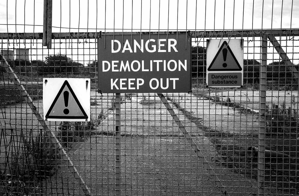 asbestos danger on construction sites